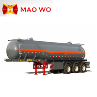 2017 Hot sale 40ton vacuum tank trailer fuel petrol tanker semi trailer