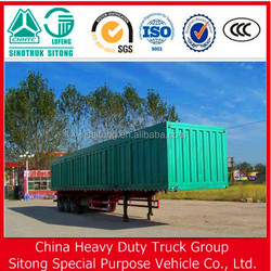 3 axles truck cargo box, cargo semi trailer house, side open strong box utility trailer
