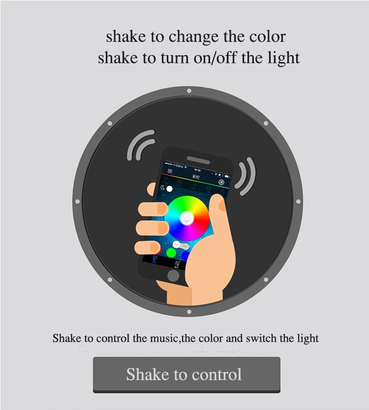 Multi Colors smart wireless Bluetooth Led light bulb with Speaker Android IOS APP remote control led bulb stereo audio