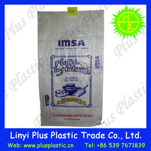 plastic compound kraft paper bag 25kg Kraft paper sack with pp woven film for plastic raw material