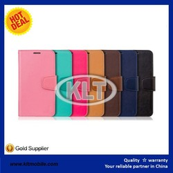 Color Wallet Pocket PU leather flip case for samsung galaxy note 2