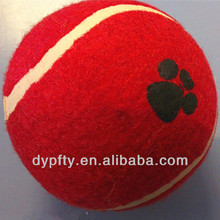 promotional red tennis ball for trainning dogs