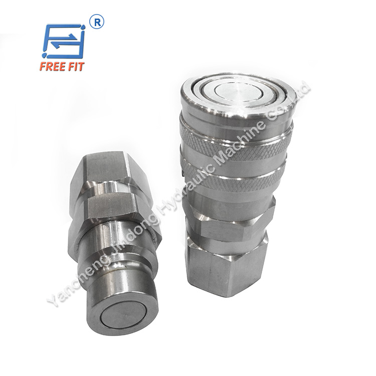 metal superior flat face quick couplings hydraulic fittings hose connectors