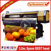 Big promotion Funsunjet FS3202G 3.2m / 10ft used digital flex banner printing machine