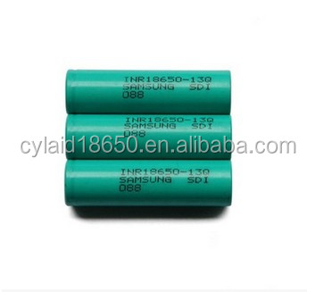 Wholesale good quality vape 2016 rechargeable battery for samsung inr18650 13q 1300mah li ion battery