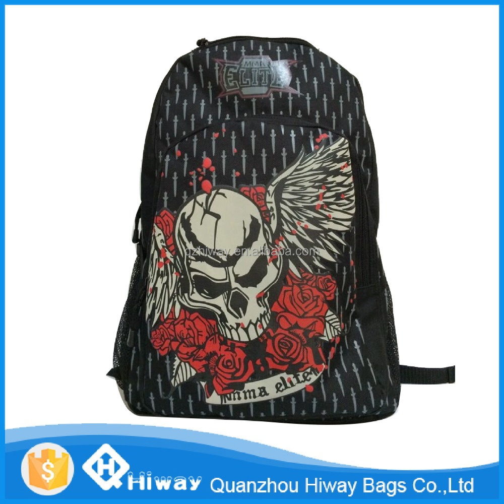 wholesale printing backpack skull boy backpacks laptop bag boy travel bag children school bag