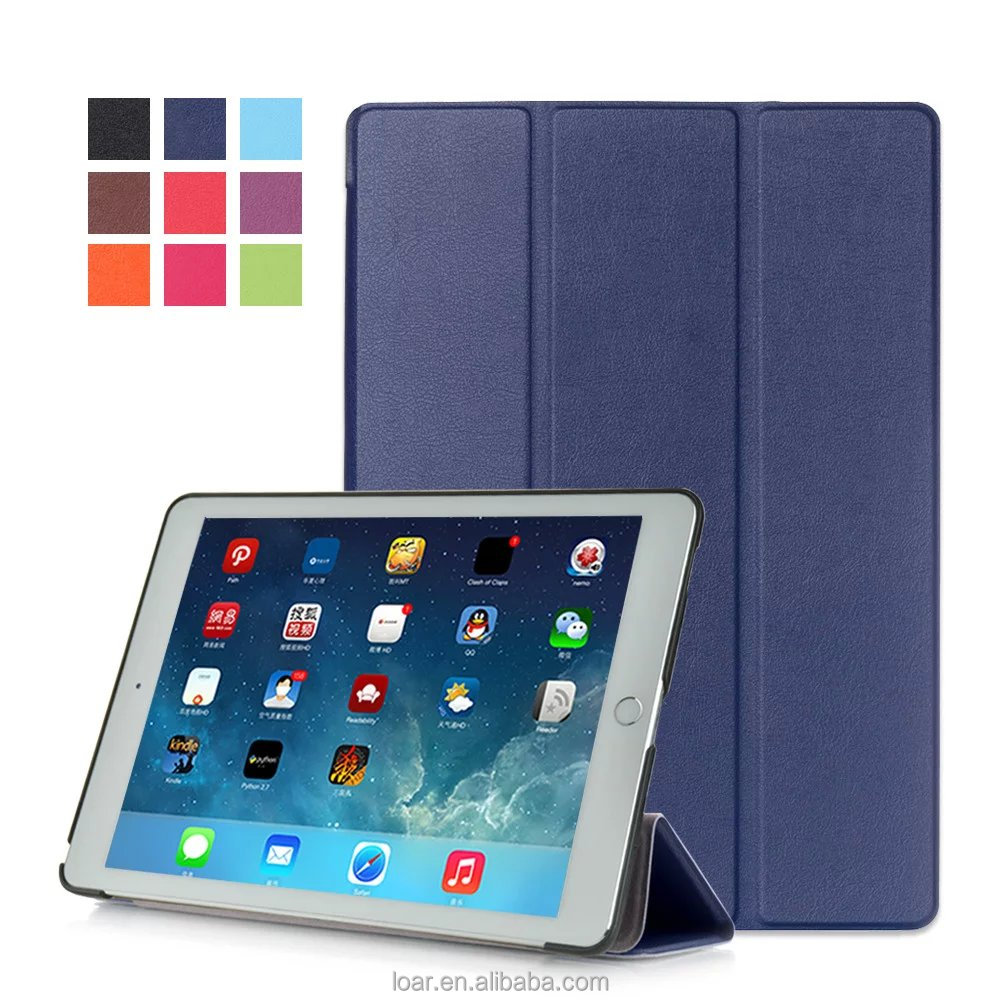 New Gerneration AIR3 2016 ultra thin Tri Folding Leather Flip cover for ipad air 3 tablet case