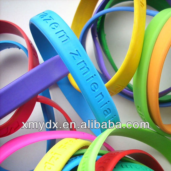 100% food grade silicone Eco-friendly/ Non-toxic cheap health silicone wristbands