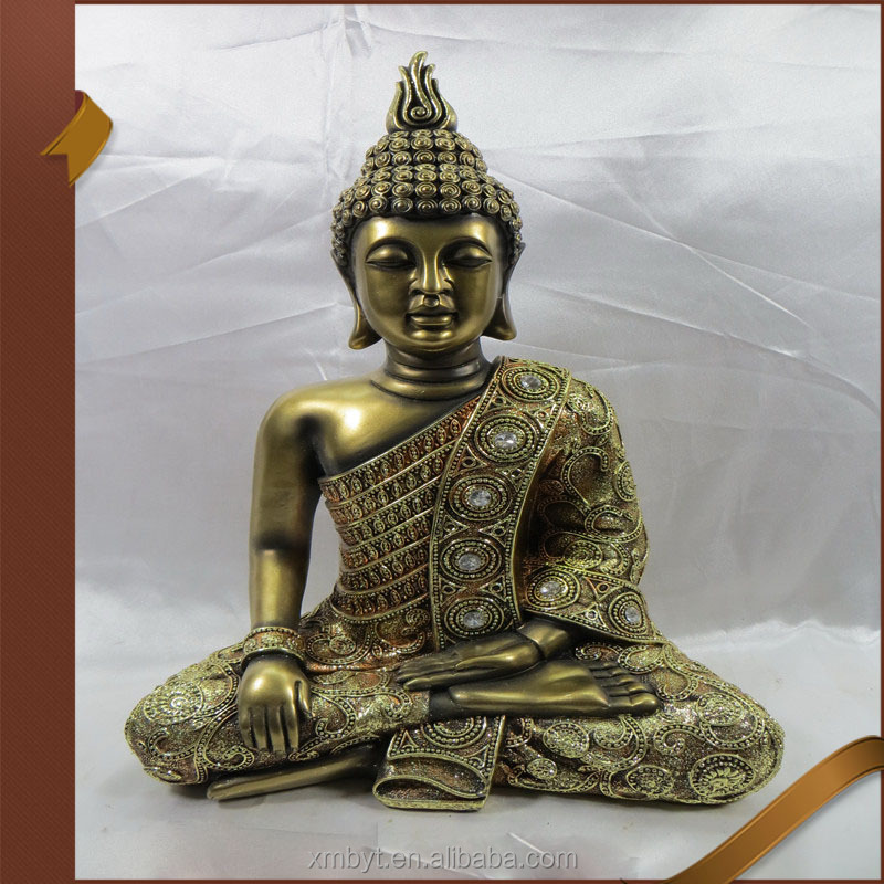 Hot sale figures small polyresin gold buddha statue