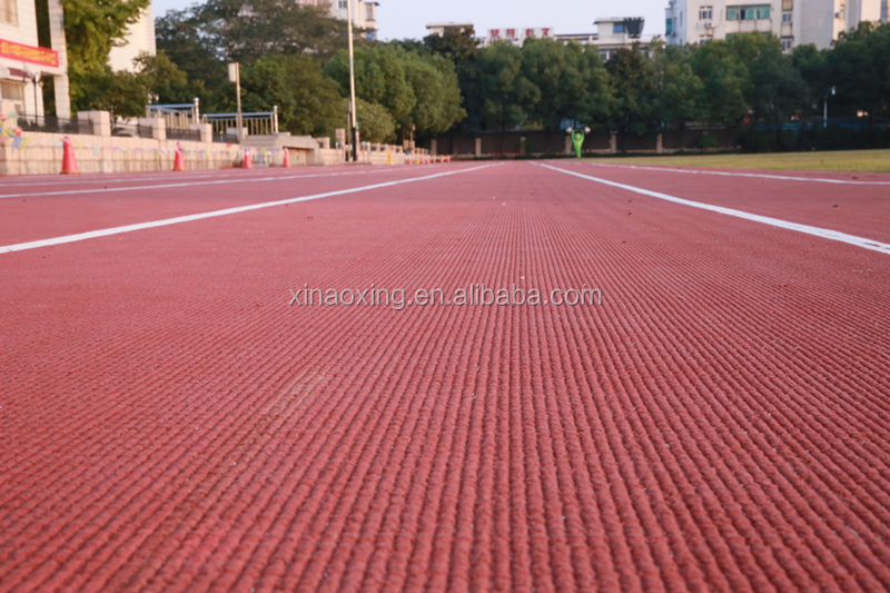 IAAF Certified Prefabricated Rubber Runway Track Floor Surface For 400 Meter Standard Stadium Field