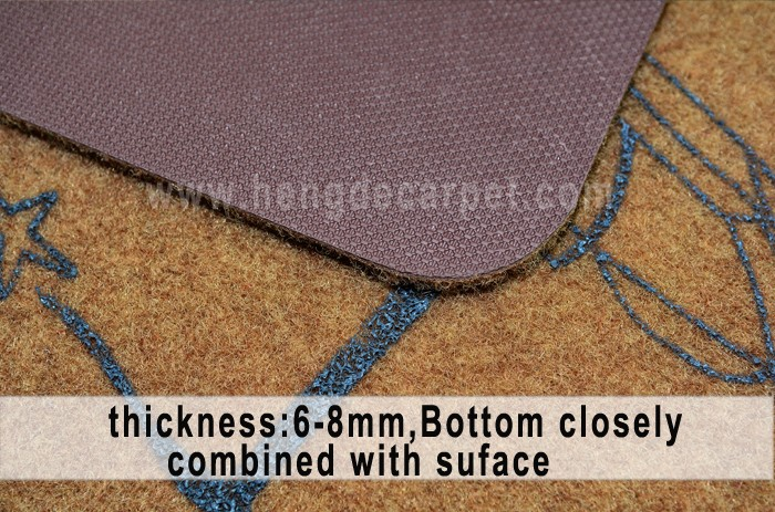 machine washable waterproof anti-skid cut pile doormat
