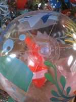 PVC Inflatable Beach Ball/ water ball with animal inside /inflatable pvc beach ball with fish inside