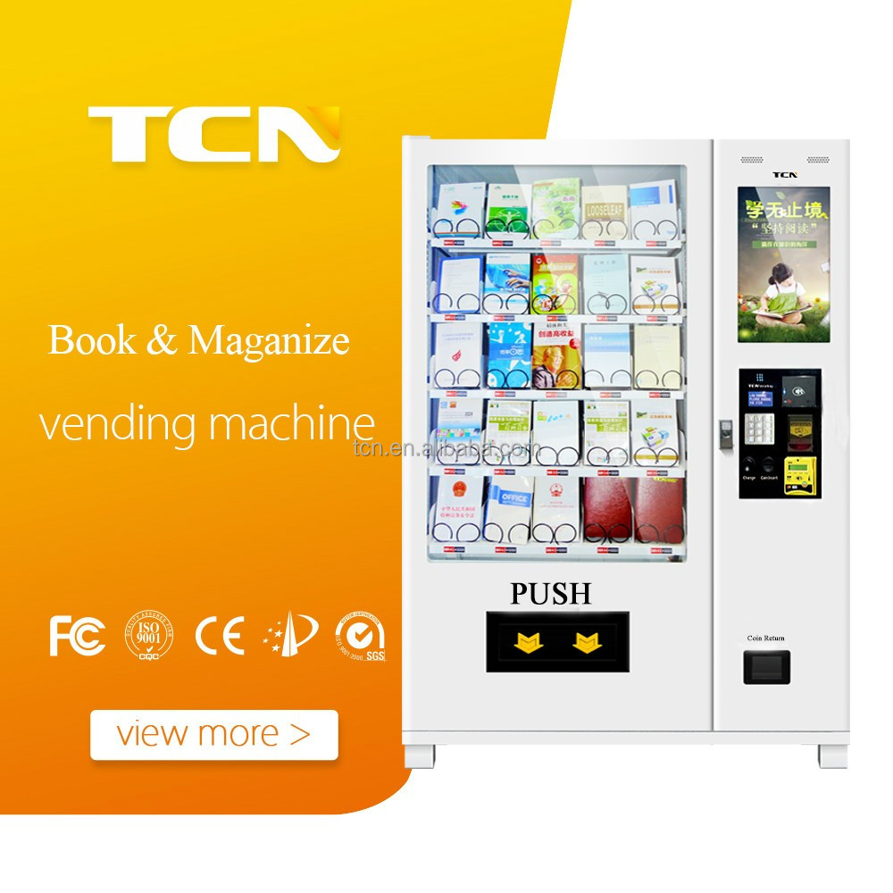 Non refrigerated cheap price vending machine for book snacks T shirt