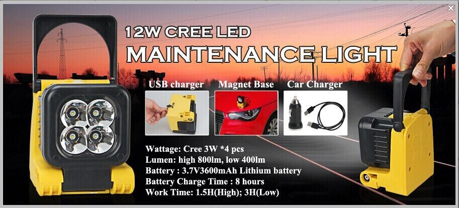 cree5w led light lamp 45w led work light offroad heavy duty machines for jeep,suv,atv