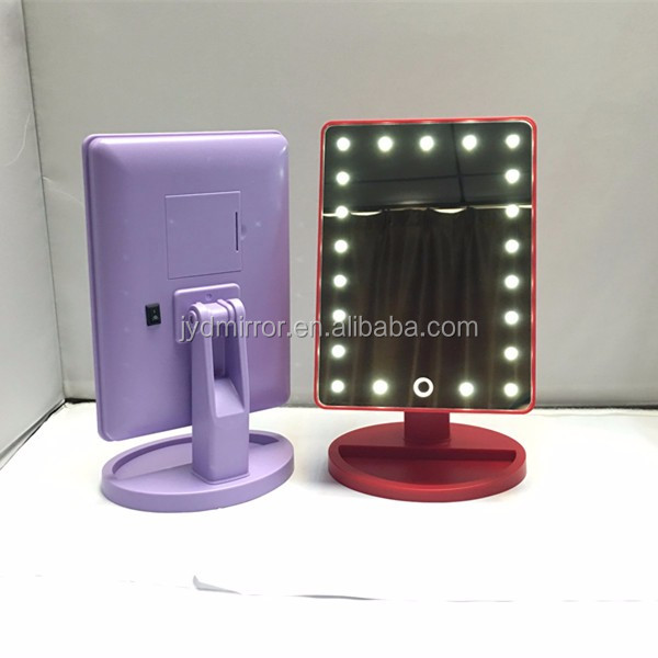 aa battery operated cordless lighted makeup mirror led lighted makeup. Black Bedroom Furniture Sets. Home Design Ideas
