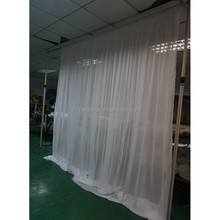 Cheap adjustable white curtains party wedding decoration pipe and drape