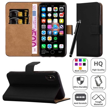 stand wallet flip leather case for iphone 8 case pu leather cover for iphone x new arrival