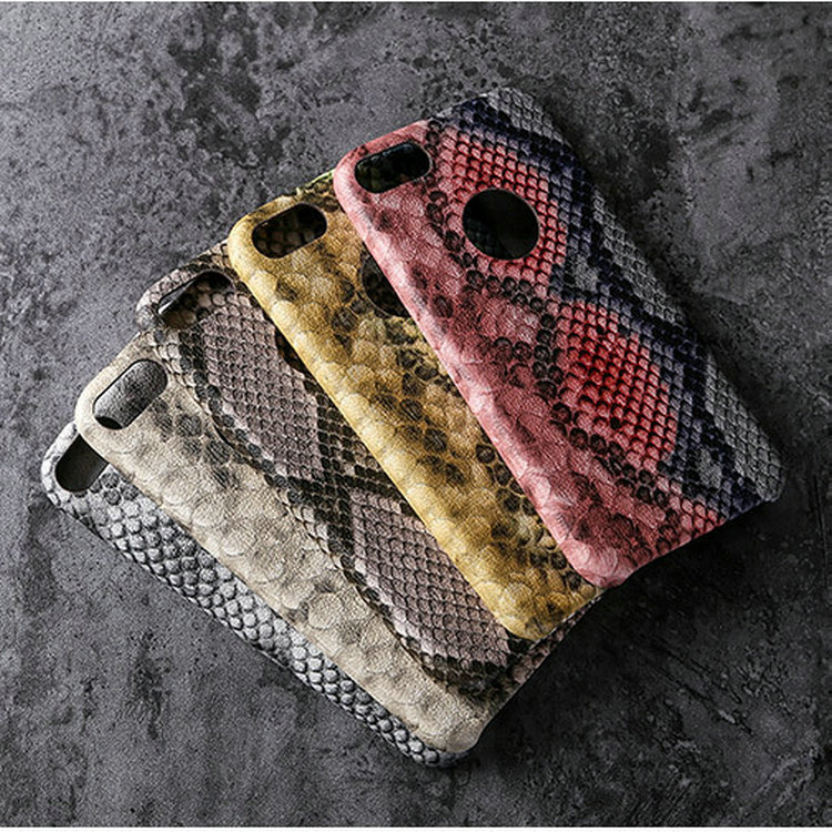 Universal Custom phone card holer Snakeskin PU Leather Mobile Phone Accessories Flip Wallet Case for iphone 8