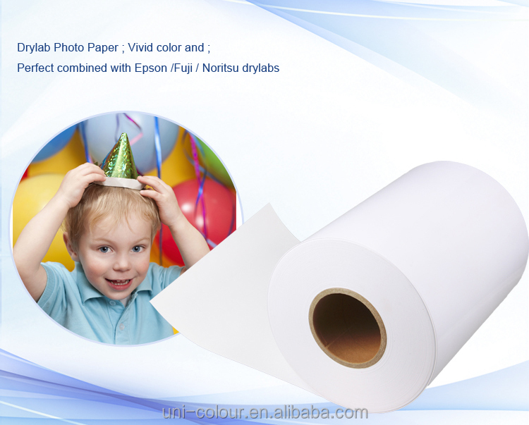 Resin Coated Drylab Photo Paper for Fuji, 260gsm