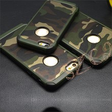New Shockproof Heavy Duty Camo Pattern PC Silicone Robot Armor Phone case Cover For Samsung Galaxy S6 EDGE