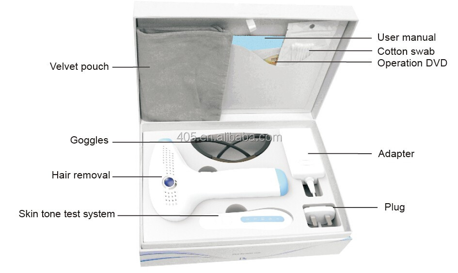 Home IPL permanent hair removal delicately manufactured