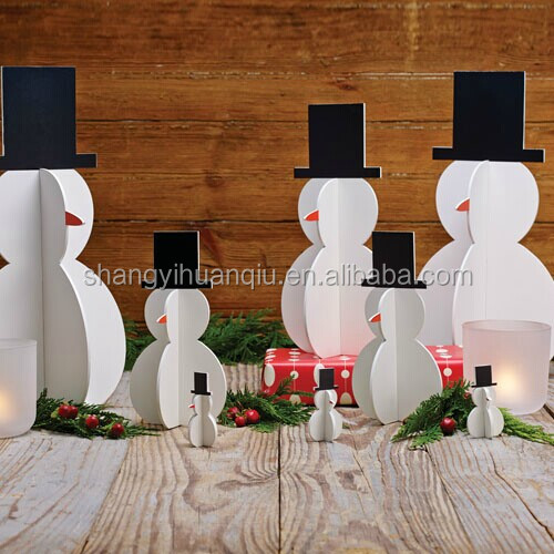 Eco-friendly Unfinished xmas Small Wood Crafts Wooden Decorated