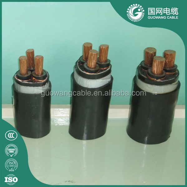 12 kV Medium Voltage Underground Stranded Copper XLPE Insulation Cable Price DIN VDE 0276 multi strand single core cable