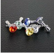 fashion crystal iphone ear plugs,trendency mobile phone jewelry