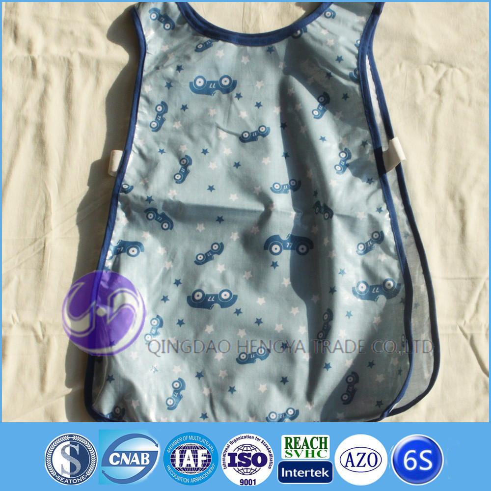 pvc waterproof blue children kitchen apron kids aprons