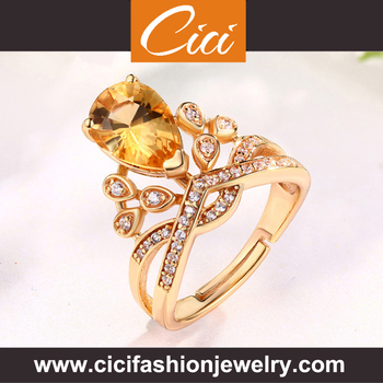 Wholesale New Arrival Diamond Silver Ring Price Yellow Topaz Silver Ring Silver Ring Usa