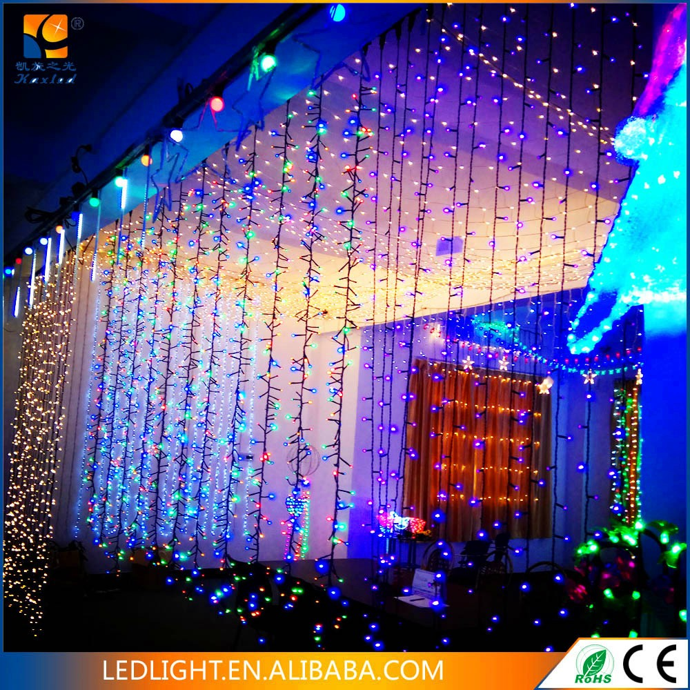 Christmas lights led curtain decorative light wholesale China