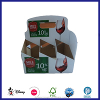 custom printed 4 pack and 6 pack cardboard bottle carrier