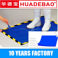 PE film dust control disposable clean plastic sticky mats