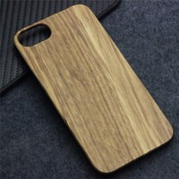 cheap price simple but fashion cell phone case wooden cover case for ip7