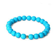 Simple Natural Stone Kallaite Fashion New Design Top Sell Bead Bracelet Jewelry