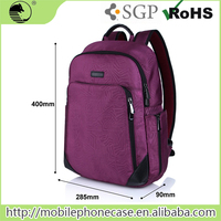 2016 Hot Sale 200D Fashion Purple School Laptop Bags Backpack