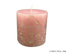 Silicone decorative flower candle molds