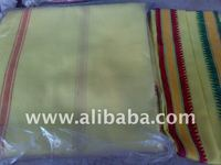 LEMON COLOR POLYSTER DHOTI FOR POOJA