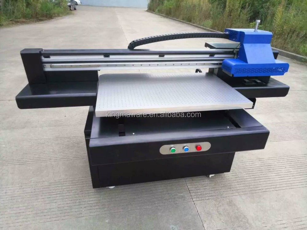 CE certficated double heads size 60*90cm economical industrial A2 uv led printing machine for various media