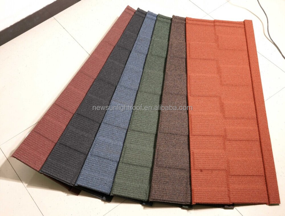 Types of stone coated metal roofing tile sandwich panel for Type of roof tiles