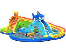 QiHong giant inflatable water park water game for sale,hot inflatable water park spray toys