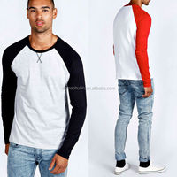 Casual slim fit stylish men cotton long sleeve t shirt for advertising promotion
