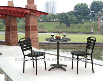 Outdoor garden modern coffee shop table and chair set