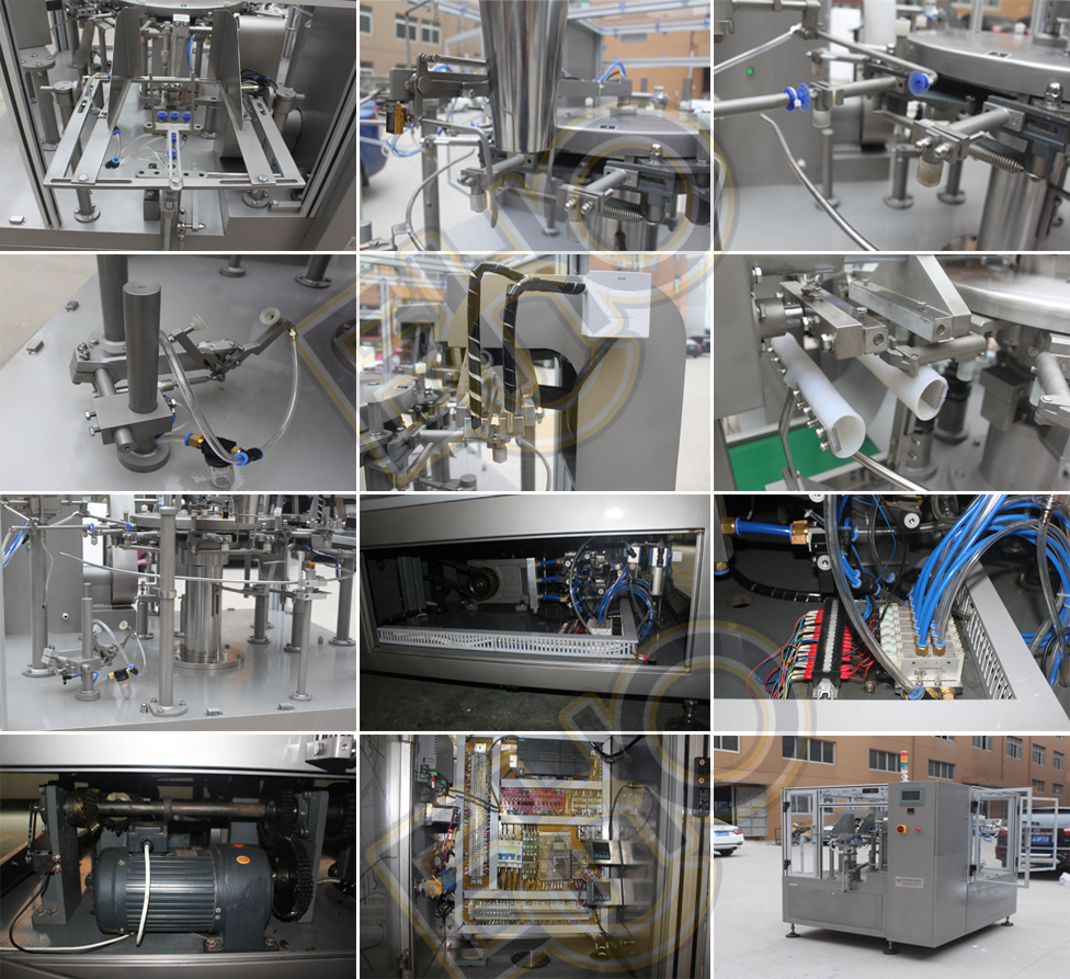 Highly recommend Multifunction high quality rotary pre pouch doypack full automatic Shampoo filling Tray Pack Machine