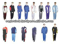 2014 newest mix color tracksuits,100% Polyester,top design tracks/Nylon/Taslon/PC/Trinda & Piping in Contrast Colors