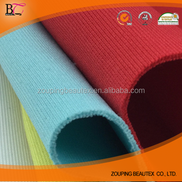 Polyester/Spandex knitting dyeing spandex 3 d air layer fabrics