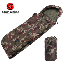 Xinxing New Sale Dark Down Filling Polyester Cover Camping sleeping bag 15~5degree Army Military camouflage sleeping bags SB02