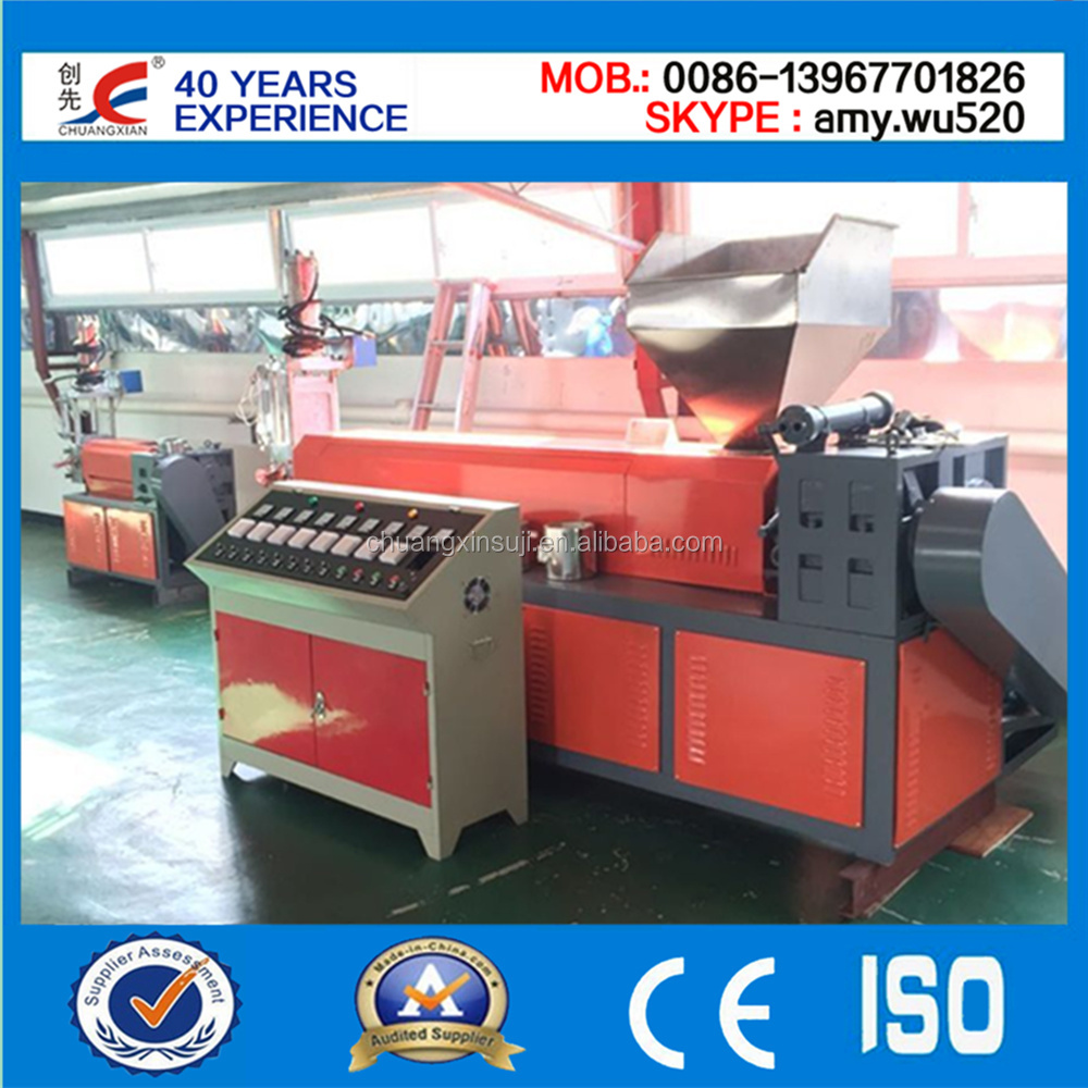 Single granulation unit of recycle machine
