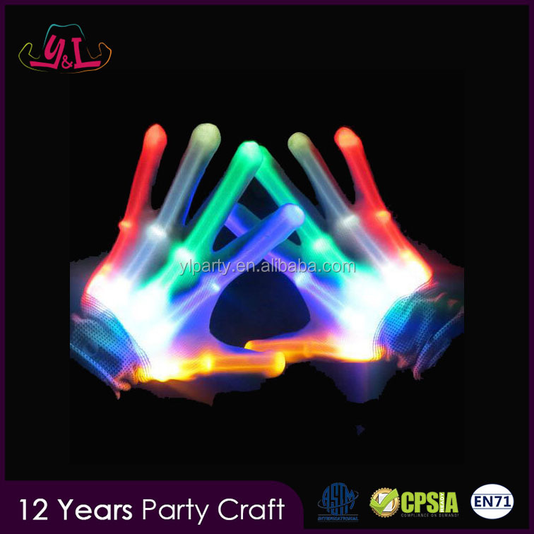 2017 New Goods Colourful Color Glove Led For Import Party Supply