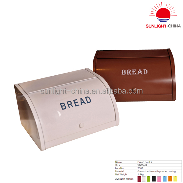 color galvanized bread box/galvanized iron storage bread bin/bread box